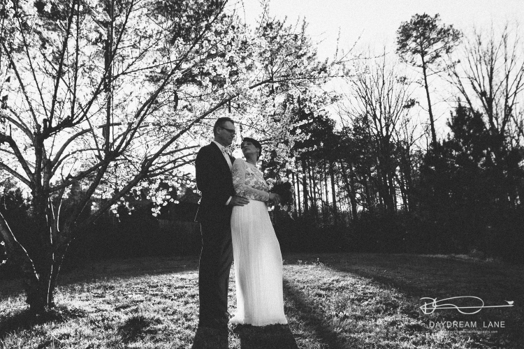 spring wedding black and white