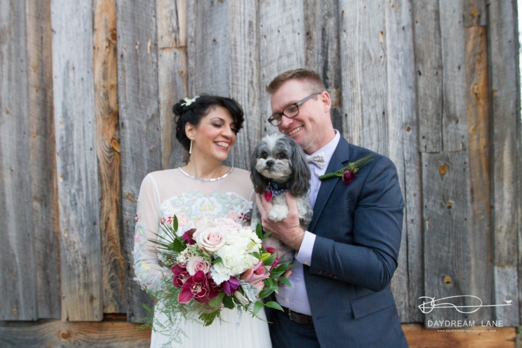 dog photobomb wedding