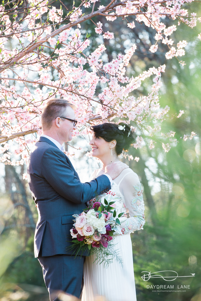 Spring wedding couple